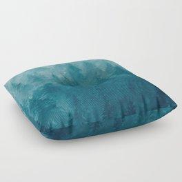 Misty Pine Forest Floor Pillow