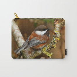Chestnut-Backed Chickadee in the Cherry Tree Carry-All Pouch