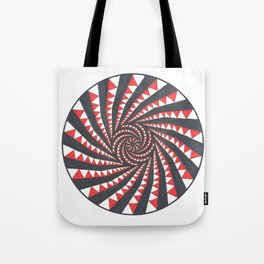 Red and Black Multi spiral Tote Bag