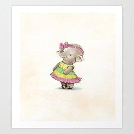 Shy Ellie Art Print