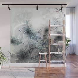 Fashion feather pattern Wall Mural