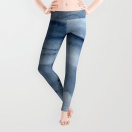Navy Watercolor Texture Leggings