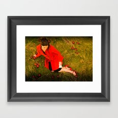Lizzie Nunnery and the Apples Framed Art Print