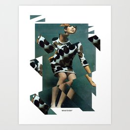 Collage Vintage Art Print