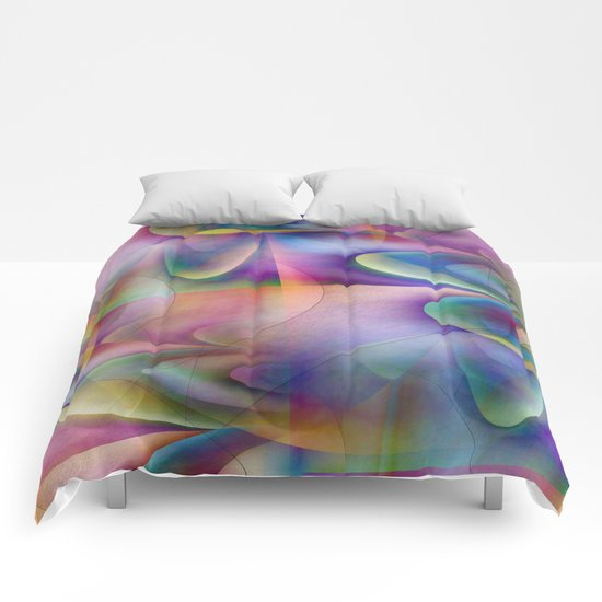 Multicolored abstract no. 72 Comforters