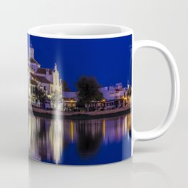 Spain El Rocio Andalusia river Night Temples Cities Building Rivers temple night time Houses Coffee Mug