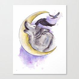 Crescent Howl Canvas Print