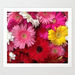 FLOWERS ALL AROUND Art Print