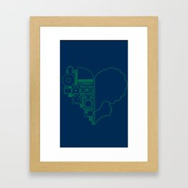 Valentine's day print Framed Art Print