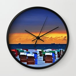 BEFORE THE STORM on the Baltic Sea Wall Clock