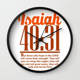 Bible Verse Isaiah 40:31 Christian Quote Wall Clock