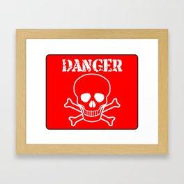 Red Danger Sign Framed Art Print