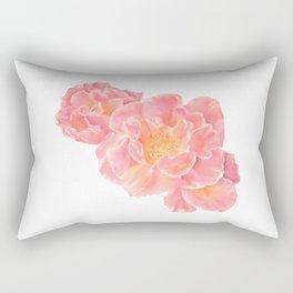 Three pink roses Rectangular Pillow