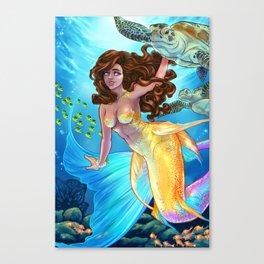 Hawaiian Mermaid Canvas Print