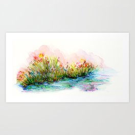 Sunrise Pond Art Print