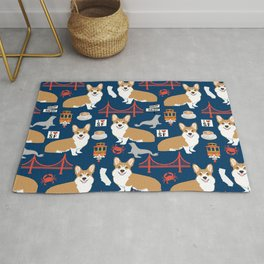 Corgi san francisco travel holiday vacation dog breed gifts Rug