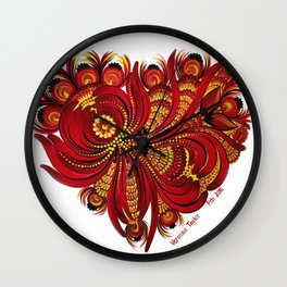 Complicated Heart Wall Clock