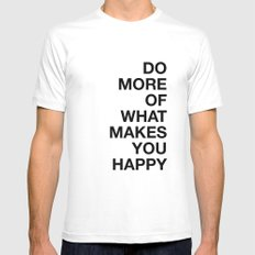 HAPPY MEDIUM White Mens Fitted Tee