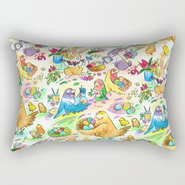 Easter egg party Rectangular Pillow