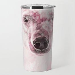 Polar Bear in Pink Travel Mug