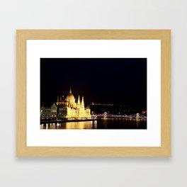 The lights of the city Framed Art Print