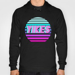 "Vaporwave pattern with palms and words ""yikes"" #2 Hoody"