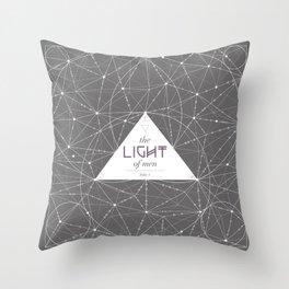 The Light of Men Throw Pillow