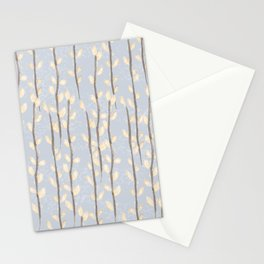Pussy Willow Branches on Soft Grey Stationery Cards