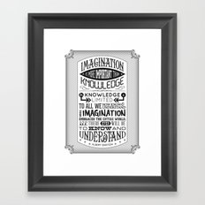 Einstein Imagination Quote poster Framed Art Print