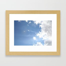 Clouds with Flare #1 Framed Art Print