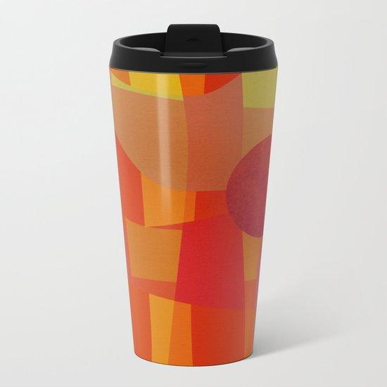 Red Hot Sun Metal Travel Mug