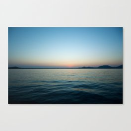 Subtle sunset Canvas Print
