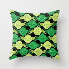 Star Wars Yodas on Black Throw Pillow