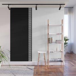 Greek Key 2 - White and Black Wall Mural