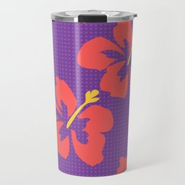 Flowers illustrated (purple background) Travel Mug