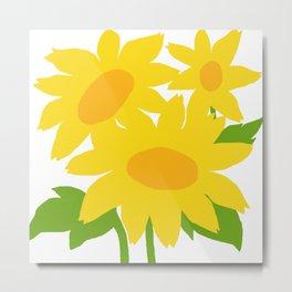 Yellow Green Good Cheer Metal Print