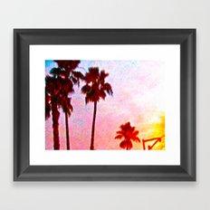 Southern California Sunset Framed Art Print