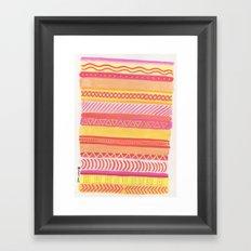Tribal#1 (Orange/Pink/Yellow) Framed Art Print
