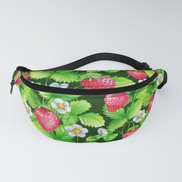 Strawberry summer nature pattern Fanny Pack