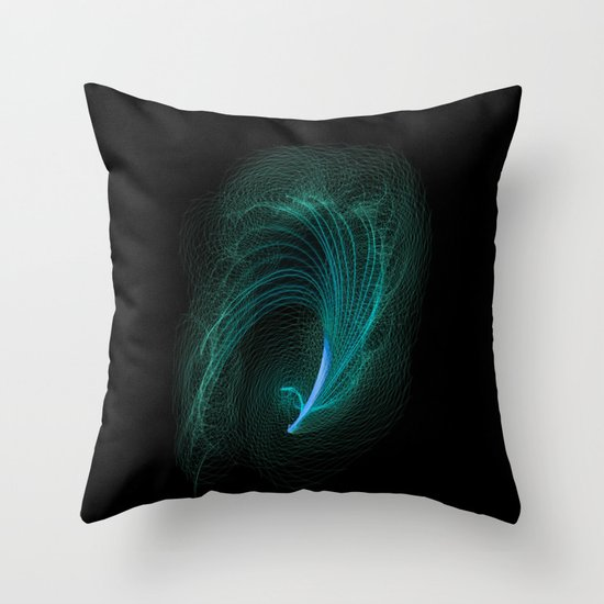 Designer feather Throw Pillow