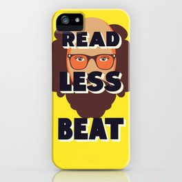 Read Less Beat - Allen Ginsberg iPhone Case