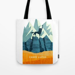 Canis Lupus: What a beautiful creature. I have a Phobia of Wolves. Tote Bag