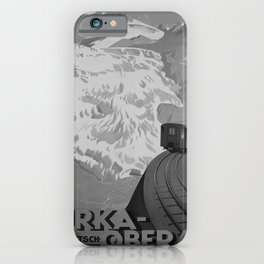 retro classic Furka Oberalp poster iPhone Case