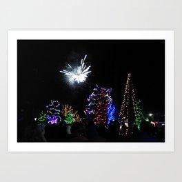 Christmas/Hanukkah  Blast (Photo by Valeen Etterlein) Art Print