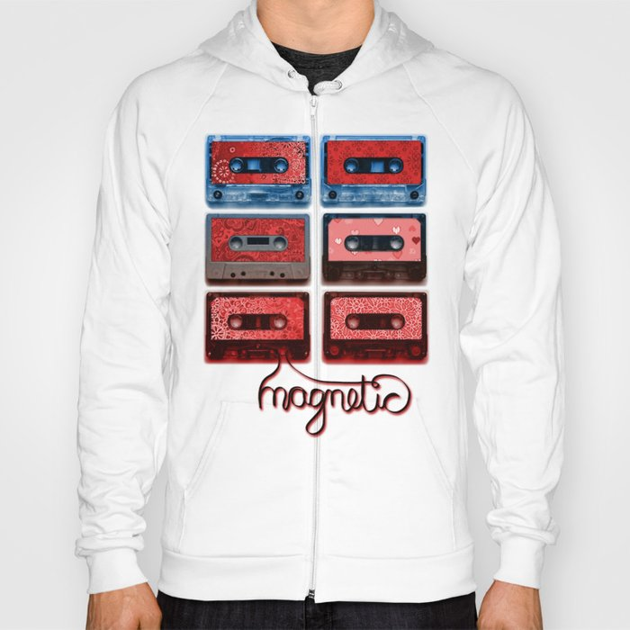 Magnetic - funky patterned mix tapes Hoody