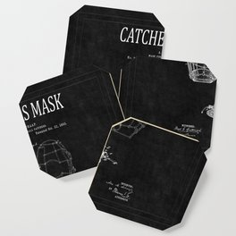 Catchers Mask Patent 2 Coaster