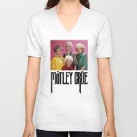 golden girls V-neck T-shirts featuring Golden Girls! Girls! Girls! by hellosailortees