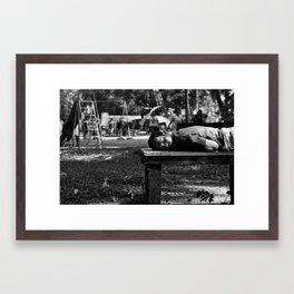 Good morning my child Framed Art Print