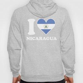 I Love Nicaragua Nicaraguan Flag Heart Hoody