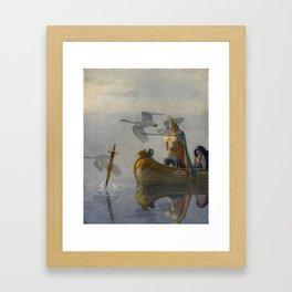 King Arthur and Excalibur Framed Art Print